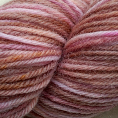'Strawberry Toffee' - Organic Merino DK Hand Dyed Yarn 100g