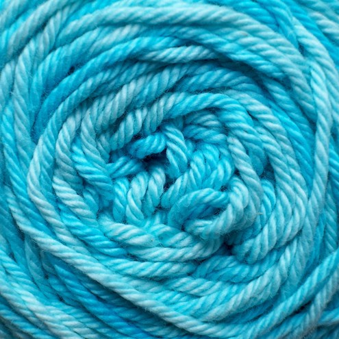 'Tropical Turquoise' - Hand Dyed Cotton DK 50g
