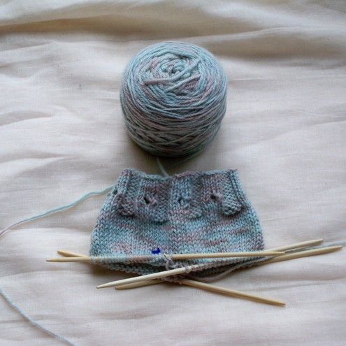 Soaker - Custom Knit Deposit (Sheepy Time Pattern) - Folksy