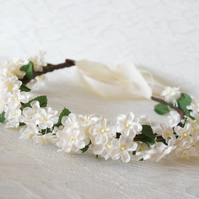 Ivory Flower Crown - Ophelia