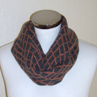 Merino Lambswool Circle Scarf Orange