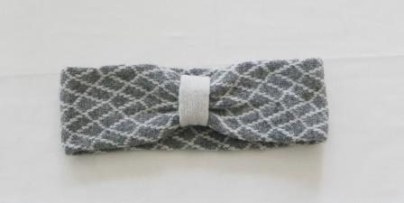 Headband Soft Merino Lambswool Perl Grey Cream