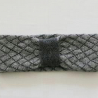 Headband Soft Merino Lambswool Perl Grey Coal