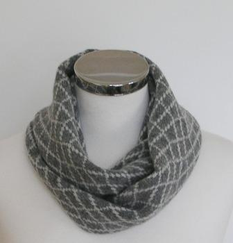 Merino Lambswool Circle Scarf Perl Grey Silver