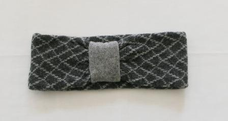 Headband Soft Merino Lambswool Coal Grey Perl Grey