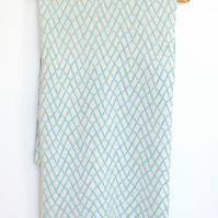 Long Baby Blue Soft Merino Lambswool Scarf