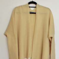 Soft Merino Lambswool Box Jacket Lemon Zest Yellow