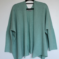 Soft Merino Lambswool Box Jacket Mint Green
