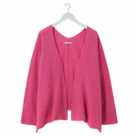 Soft Merino Lambswool Box Jacket Pink