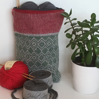 Tall Knitted Scandi Pattern Project Bag