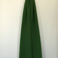 Merino Lambswool Scarf, Shawl or Wrap in Green