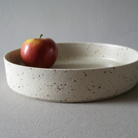 Modern Fruit Bowl Cylinder, Speckled Stoneware, Hand Thrown Pottery