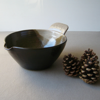 The Original Bird Tail Bowl – Large Pouring Mixing Batter Bowl, Rustic Pottery