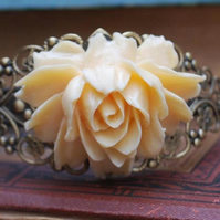 Cabbage Rose Filigree Bracelet