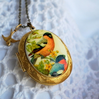 Bird Cameo Locket...  (Spring)