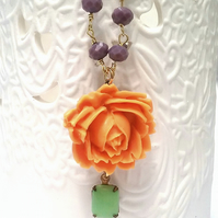 Flower & Glass Bead chain Necklaces........