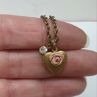 Dainty Heart Locket Necklace