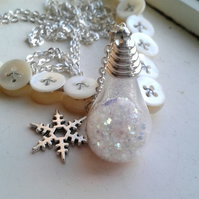 Snow Storm Globe Necklace