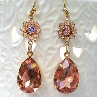 Vintage Crystal Earrings...........
