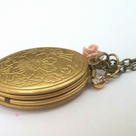 Raw Brass Photo Locket