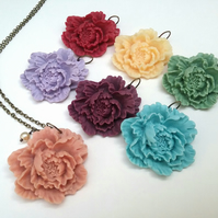 Beautiful Big Peony Necklace........