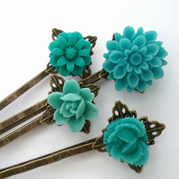 Blue set Bobby Pins..