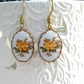 Floral Cameo Earrings......
