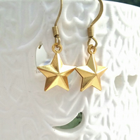 Raw Brass Star Earrings....