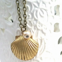 Brass Shell Locket....