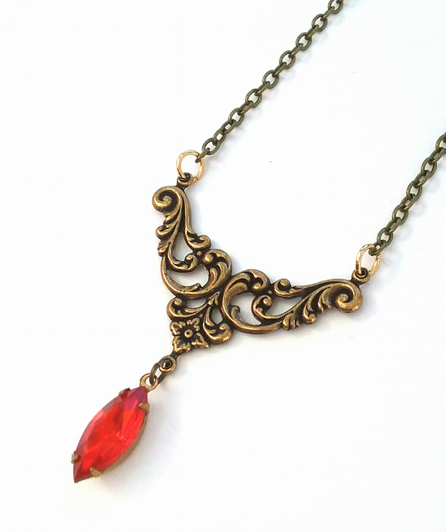 Filigree  Vintage Necklace.....