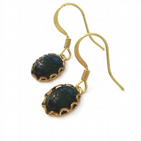 Black Beetle Cameo Earrings....