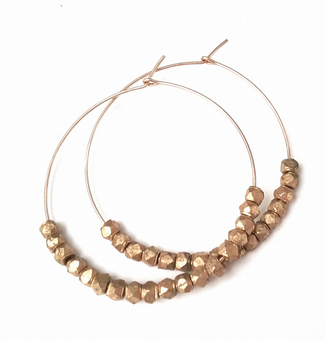 Gold Filled Beaded Hoops.....