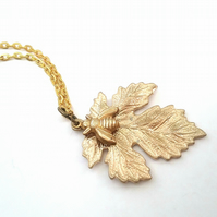 Oak Leaf & Bee Necklace....