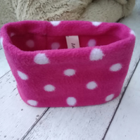 Pink Dog Neck Scarf, Dog Snood,