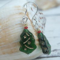 Christmas Tree Earrings,