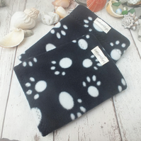 Small Dog Snood Paw Print fleece Neck Warmer