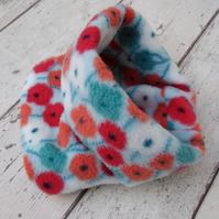 Flower Fleece Dog Snood Medium