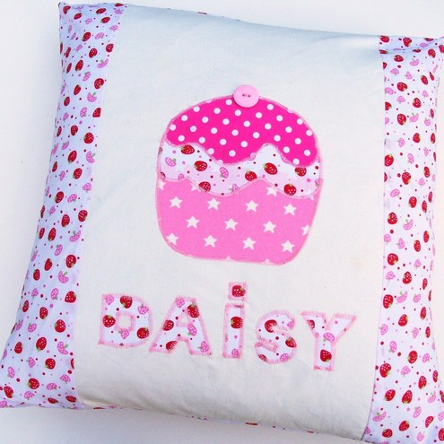 Personalised Appliqued Cupcake Cushion