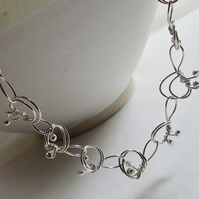 necklace silver knot necklace
