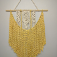 Macrame wall hanging, home decor, handcrafted wall hanging.