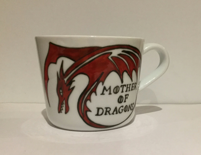Mother of Dragons hand painted mug