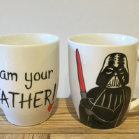 """I am your father"" - Darth Vader hand painted mug Father's Day"