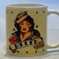 Tattoo Sailor Girl mug personalised name by TattooTeaLady