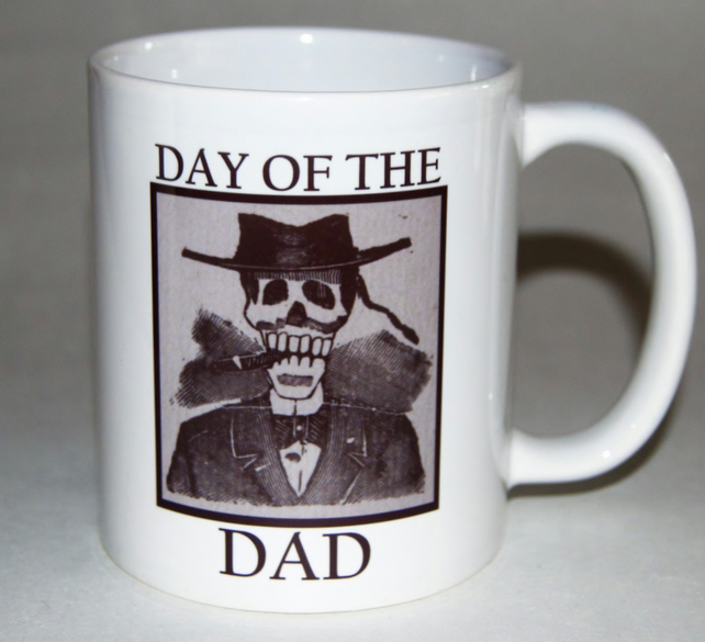 Father's Day DAY of the DAD mug - Posada Day of the Dead style -Tattoo Mug Lady