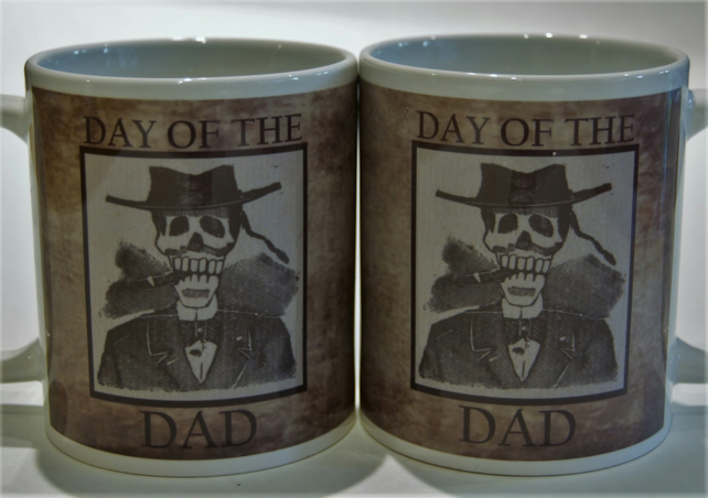 Father's Day mug - Posada Day of the Dead style -Tattoo Mug Lady