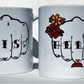 HIS & HERS Tattoo fists pair wedding mugs