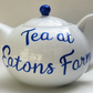 Hand painted teapot 6 cup personalised to order wedding anniversary xmas