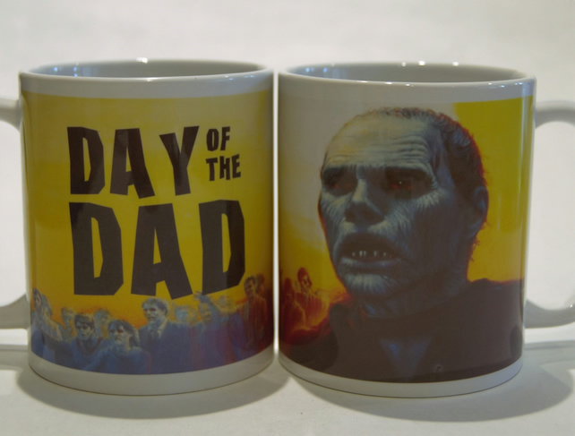 Father's Day mug Zombie Day of the Dead by TattooTeaLady