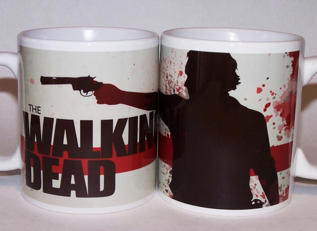 Walking Dead mug by TattooTeaLady xmas gift for him xmas gift for her