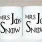 Mrs Jon Snow mug Valentine's gift for her TattooTeaLady birthday Mother's Day